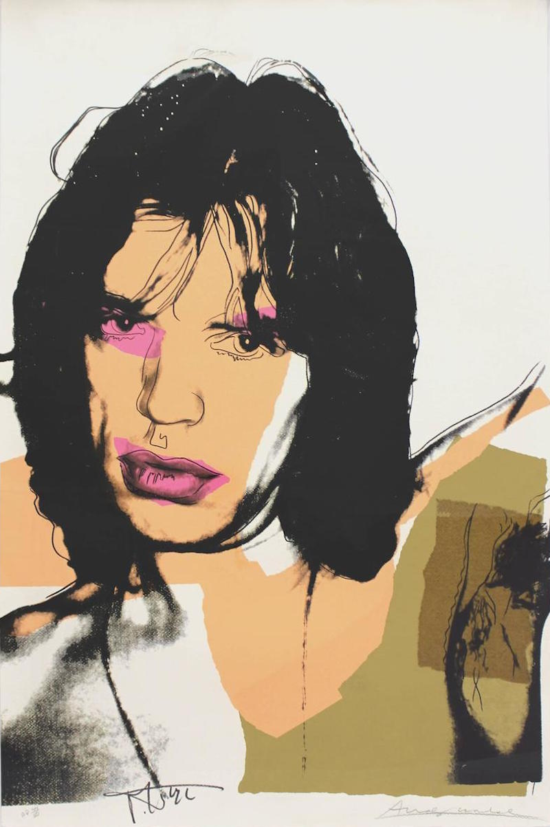 Mick Jagger 141 by Andy Warhol