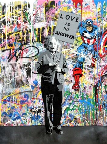 Einstein by mr brainwash guy hepner for Mural painted by street artist mr brainwash