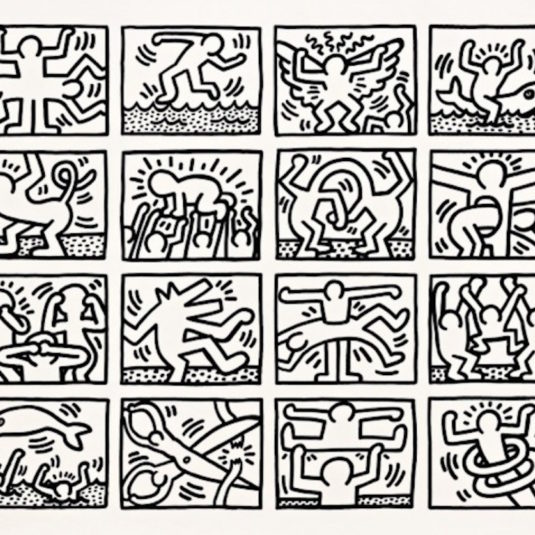 Retrospect bw by keith haring