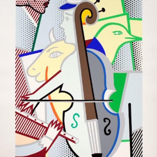 Cubist Cello by Roy Lichtenstein