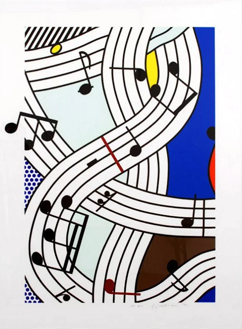 Composition 1 by Roy Lichtenstein