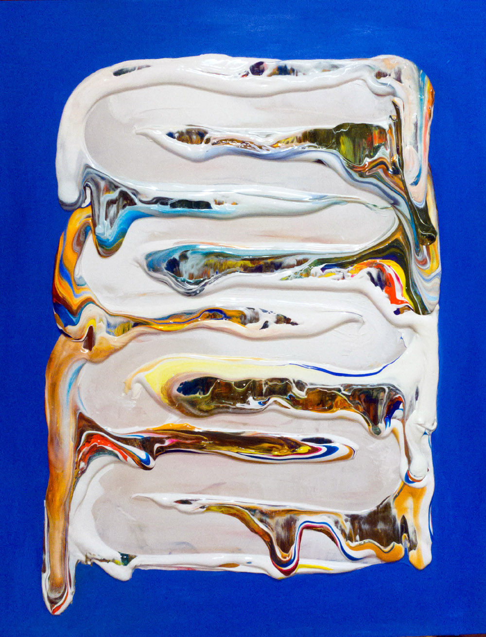 Untitled (on blue) by Derick Smith