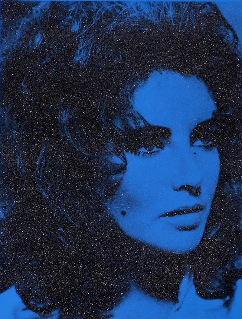 Liz Taylor (Blue) by Russell Young