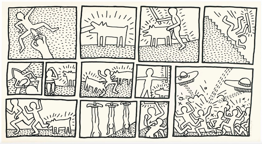 Blueprint drawing 1 by keith haring guy hepner blueprint drawing 1 by keith haring malvernweather Choice Image