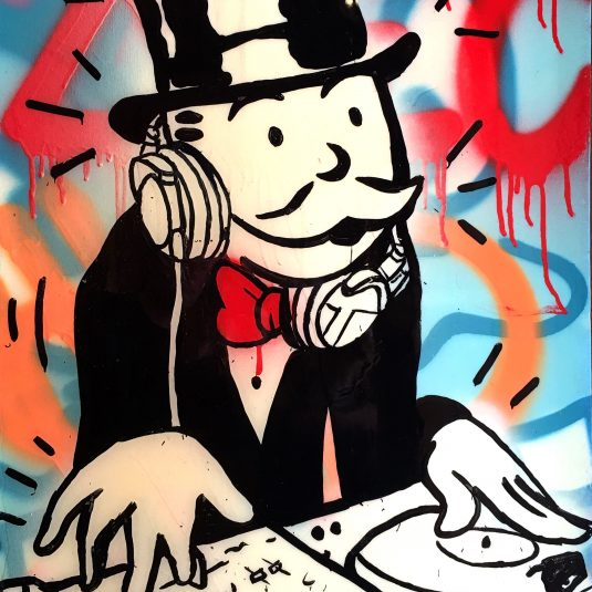 DJ Monopoly color by Alec Monopoly