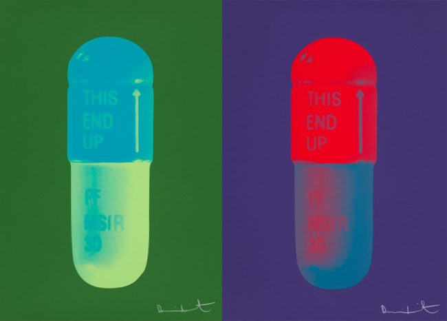 pills by damien hirst