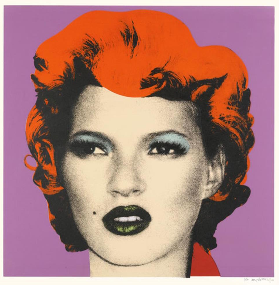 Kate Moss Purple by Banksy