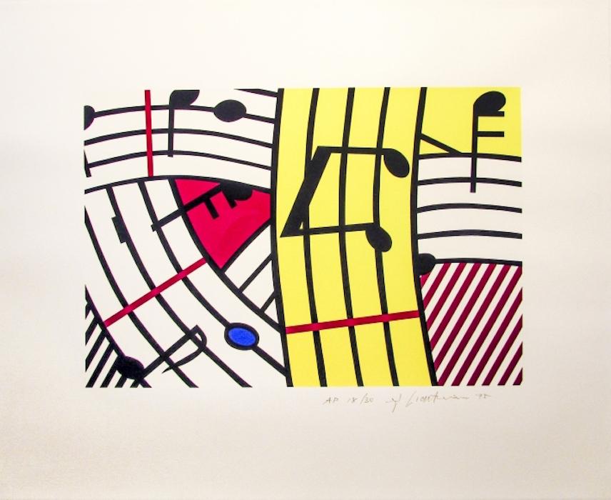 Composition iv, lichtenstein, pop, roy lichtenstein