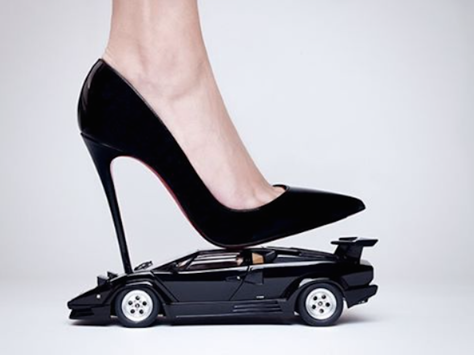 Lamborghini Heel by Tyler Shields