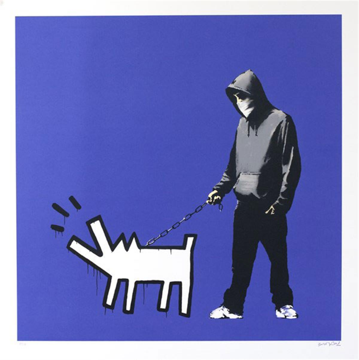 Choose Your Weapon by Banksy (Dark Blue)