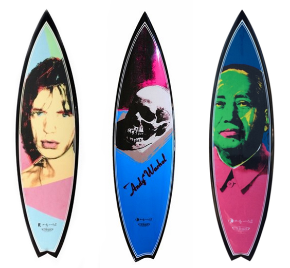 Tim Bessell x Andy Warhol Surfboards, Tim Bessell x Andy Warhol Surfboards
