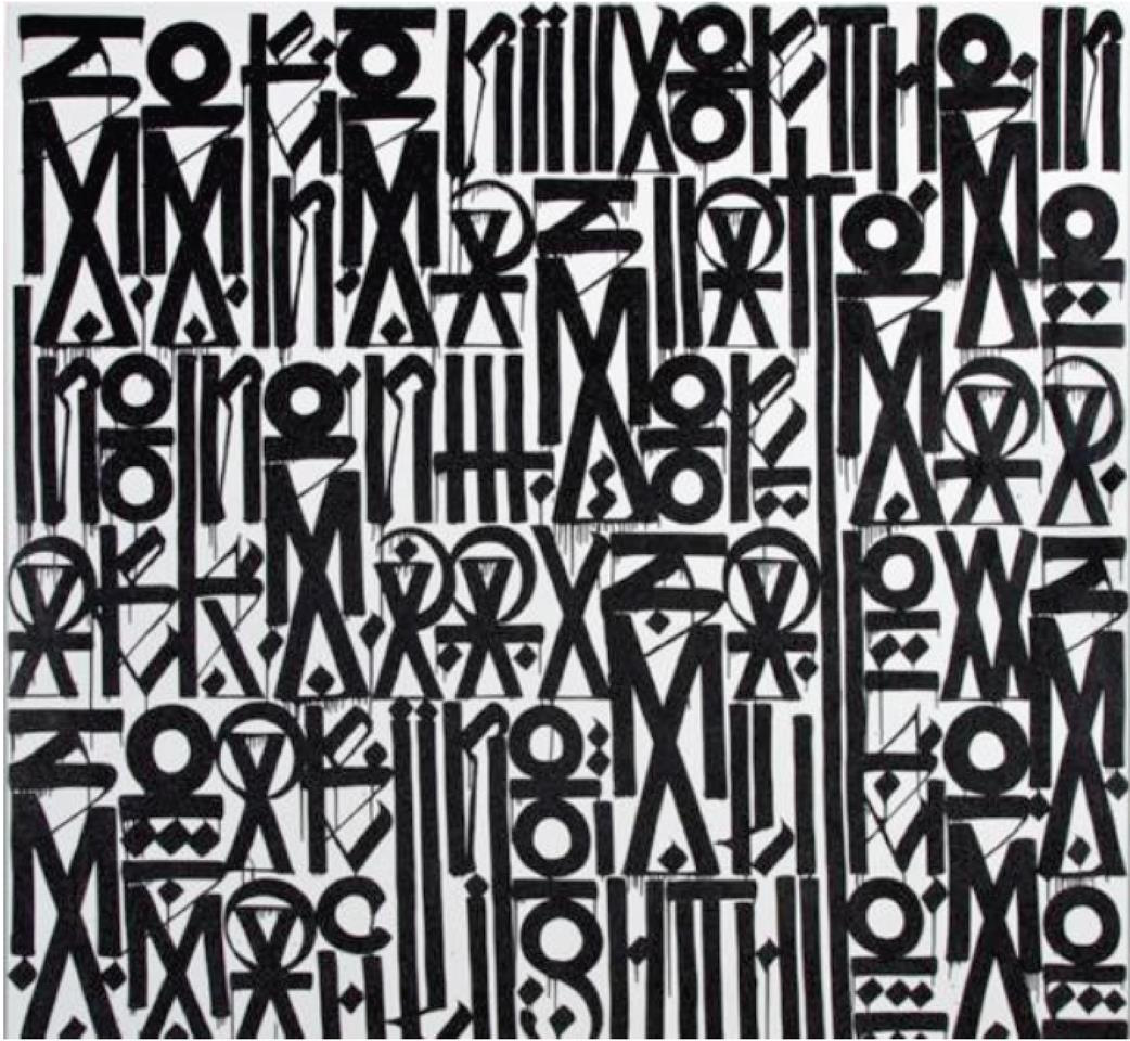 Untitled Black and White,2016 by Retna