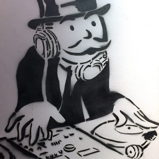 DJ Black & White by Alec Monopoly