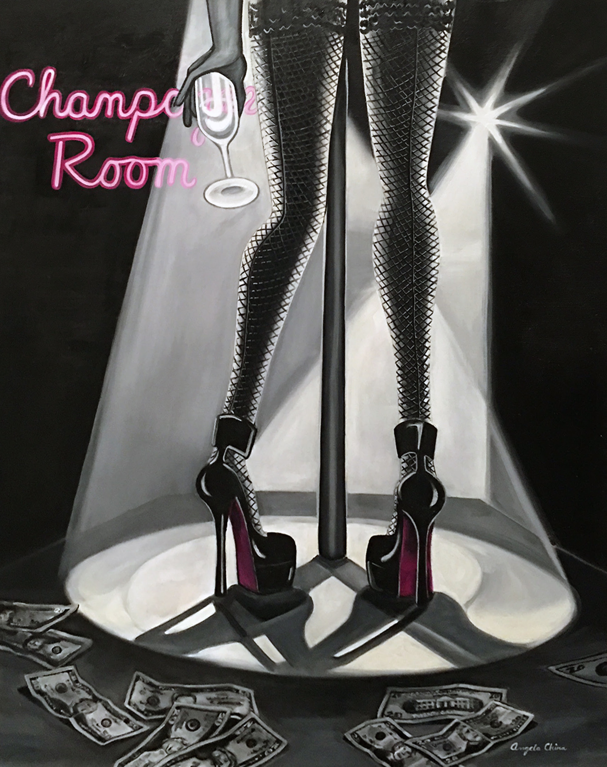 Champagne Room by Angela China