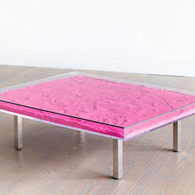 Table Rose by Yves Klein