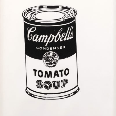 Campbell's Soup Can (Tomato) Black and White by Andy Warhol