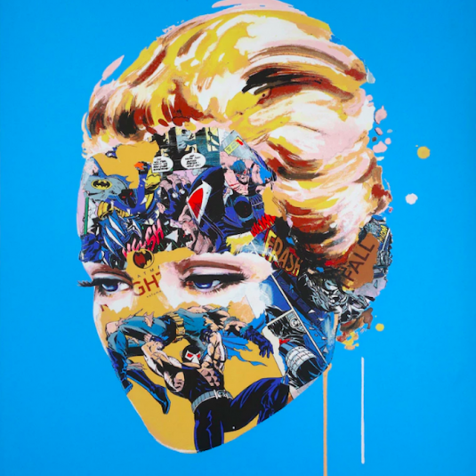The Cage, Dark Heart (Blue) by Sandra Chevrier