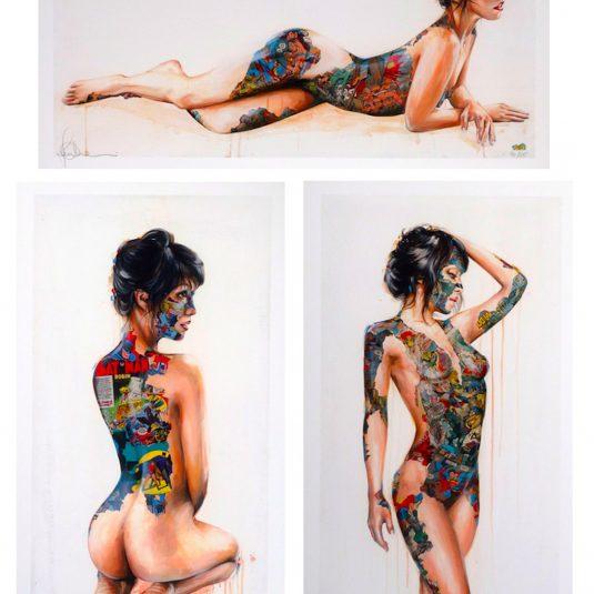 Triptych by Sandra Chevrier