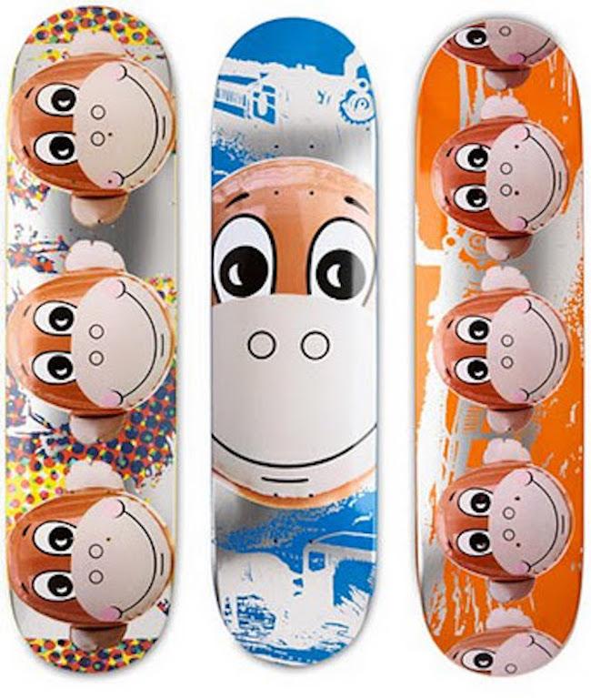 Jeff Koons Skateboard Deck Set of Three