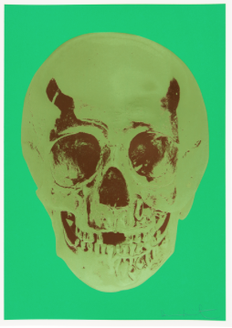 Damien Hirst — Till Death Do Us Part – Viridian Leaf Green Chocolate Skull