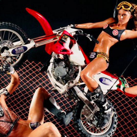 Gisele Motorcycle by David LaChapelle