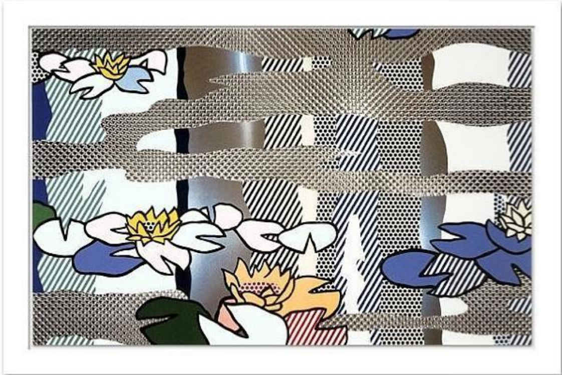 Water Lily Pond with Reflections by Roy Lichtenstein