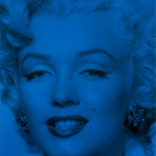 Marilyn Superstar Pacifica Blue by Russell Young