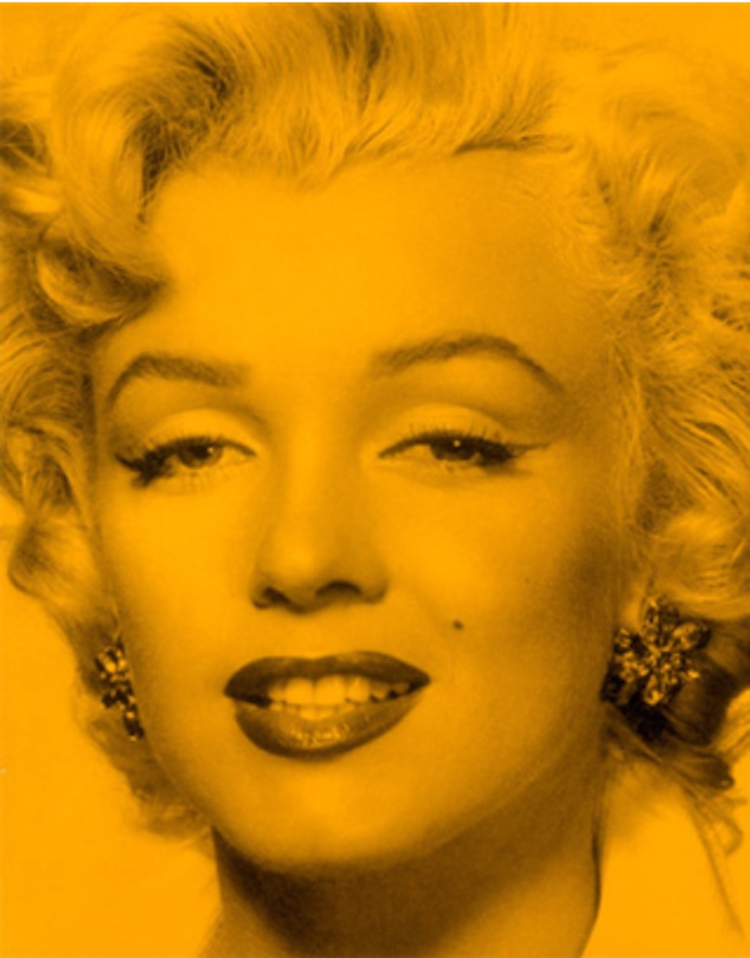 Marilyn Superstar Maverick Yellow by Russell Young