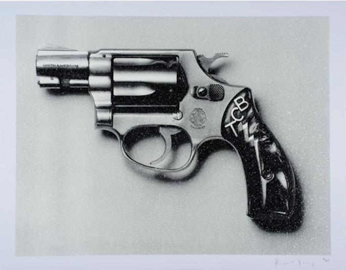 Elvis TCB Pistol by Russell Young