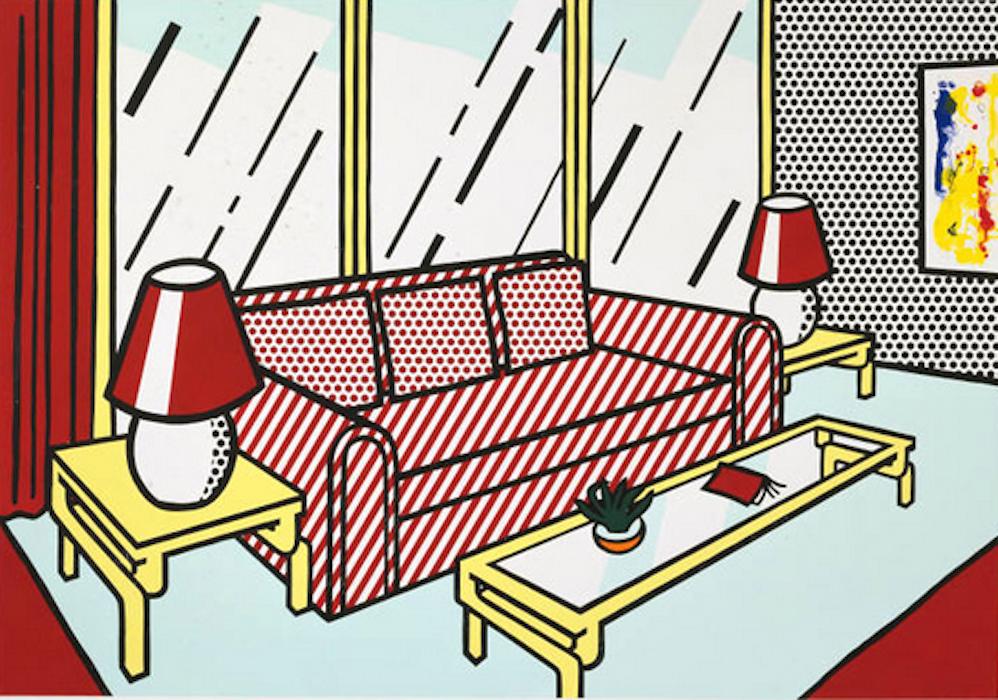 red lamps by roy lichtenstein guy hepner. Black Bedroom Furniture Sets. Home Design Ideas
