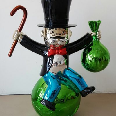 Sitting on Money Bags by Alec MonopolySitting on Money Bags by Alec Monopoly