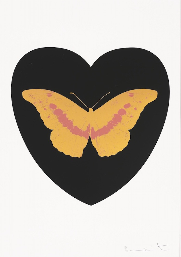 I Love You (Gold/Loganberry) by Damien Hirst
