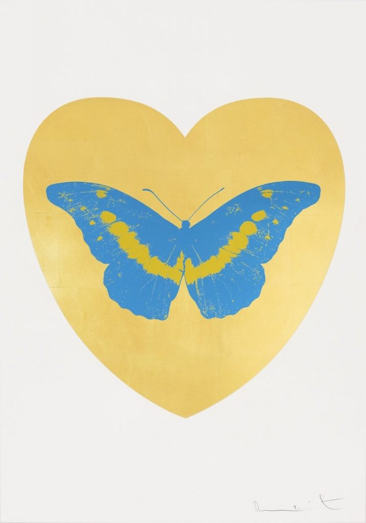 I Love You (Leaf/Turquoise/Oriental Gold) by Damien Hirst