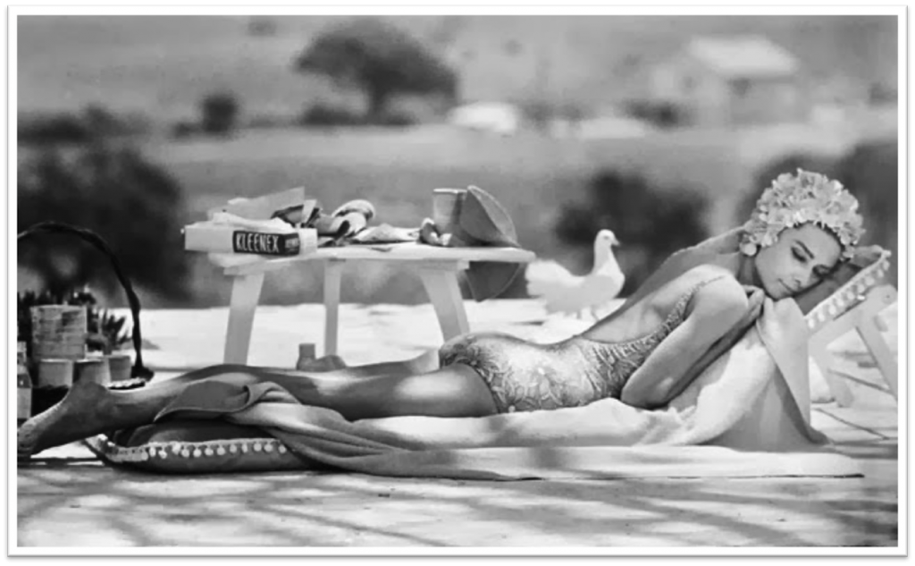 Audrey Hepburn Poolside by Terry O'Neill