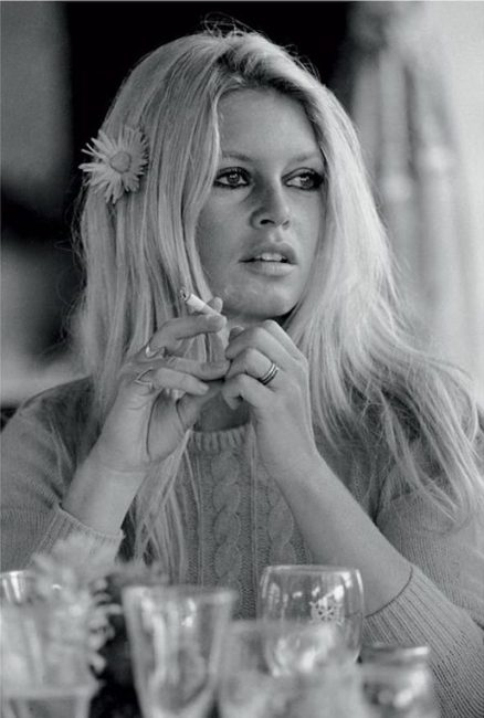 Bigitte Bardot Daisy in her Hair by Terry O'Niell
