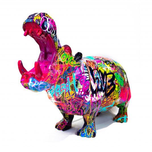 Pop Hippo by Richard Orlinski