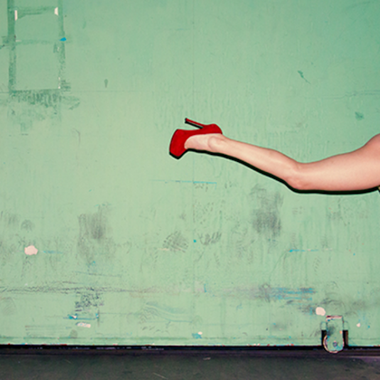 Running in Red by Tyler Shields