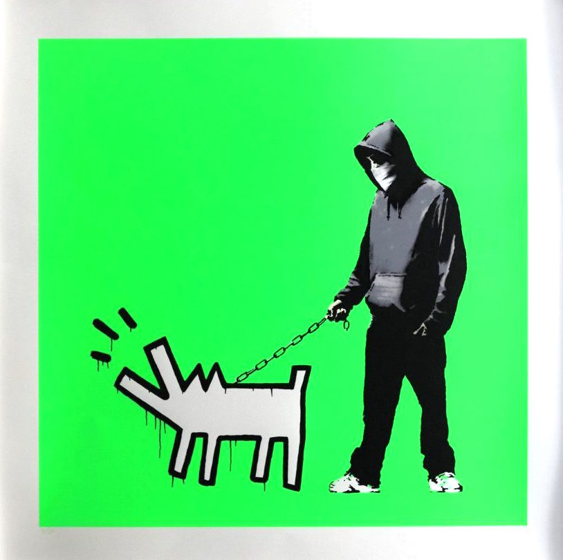 Choose Your Weapon by Banksy Fluoro Green