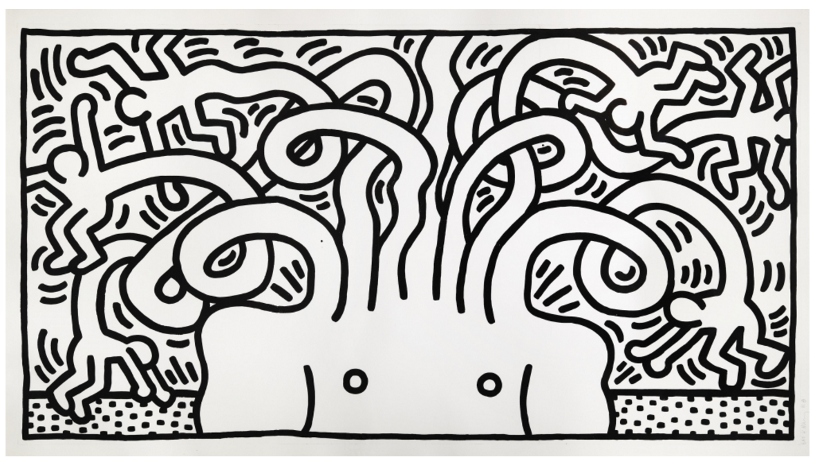 Medusa by Keith Haring