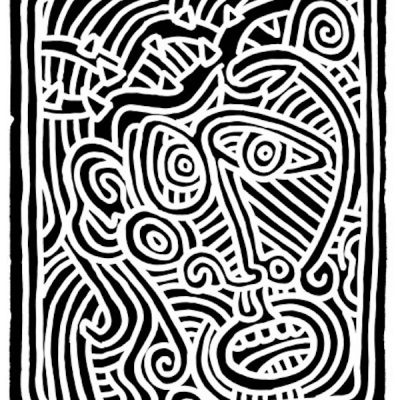 Stones #1 by Keith Haring