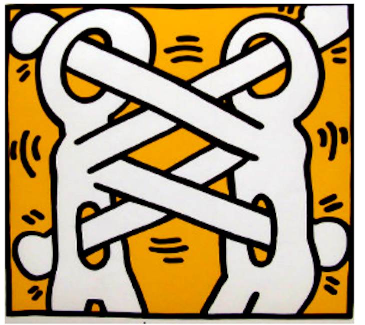 Untitled 1988 Hs By Keith Haring Guy Hepner