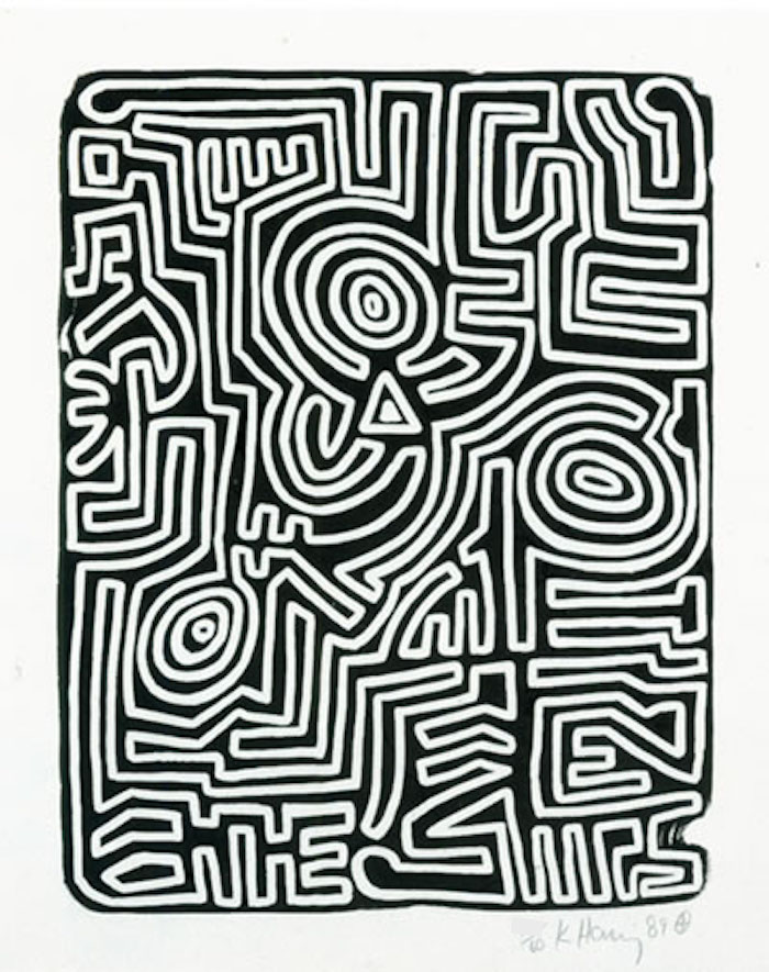 Stones #3 by Keith Haring