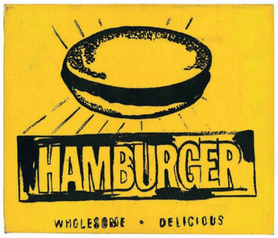 Hamburger by Andy Warhol