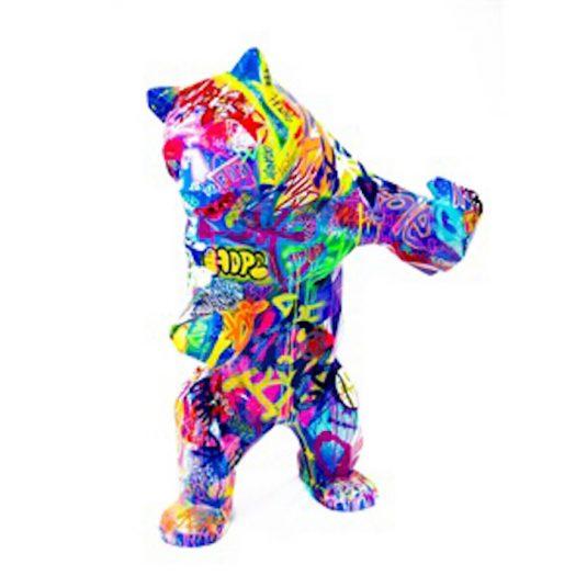 Pop Standing Bear by Richard Orlinski