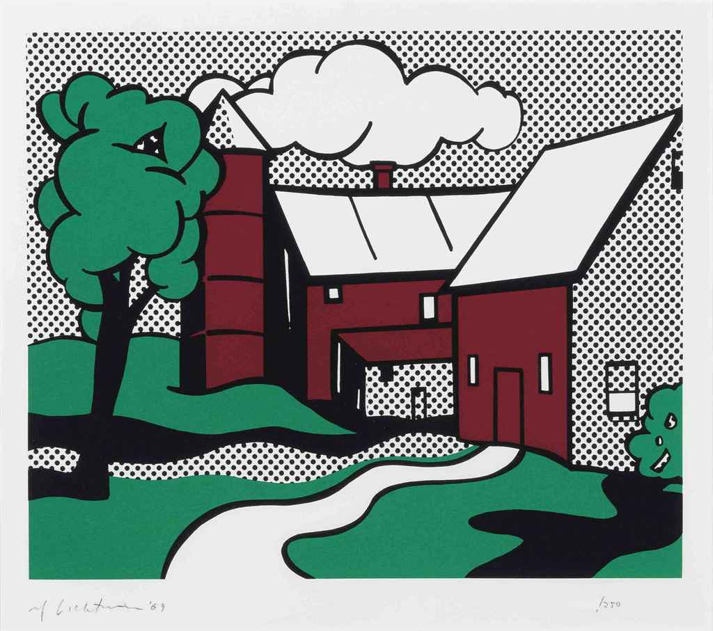 red barn by roy lichtenstein guy hepner. Black Bedroom Furniture Sets. Home Design Ideas