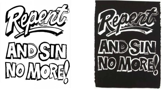 Repent and Sin No More by Andy Warhol