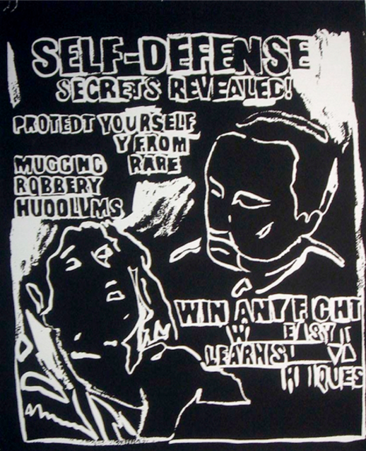 Self Defense (Negative) by Andy Warhol