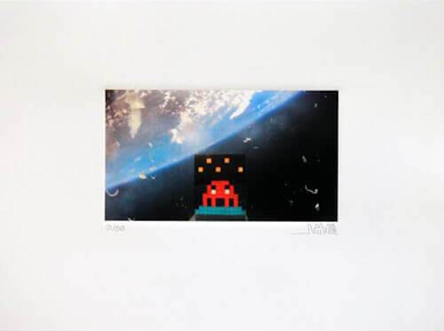 Space Invader – Art4Space 2D by Invader