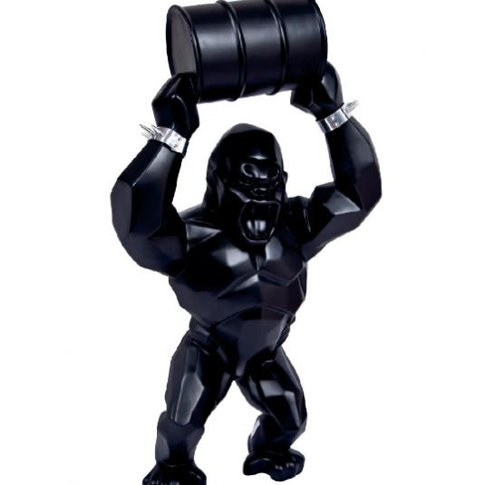 Wild Kong Oil Barrel by Richard Orlinski