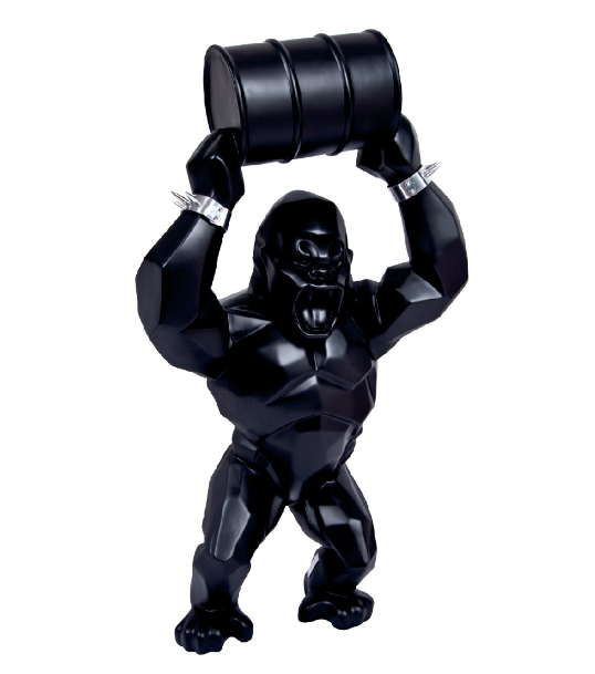 Wild Kong Oil Barrel by Richard Orlinski